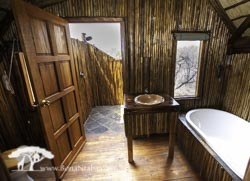 couples tree house outside shower