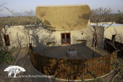 The lodge building with kitchen and boma
