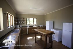Our large kitchen in the lodge building